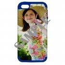 Apple iPhone 5 Hardshell Case (PC+Silicone) (Navy Blue)