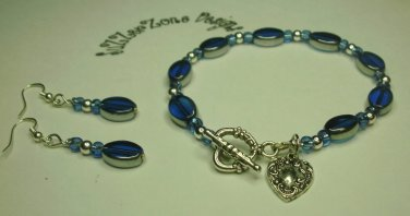 Blue and Silver glass Set