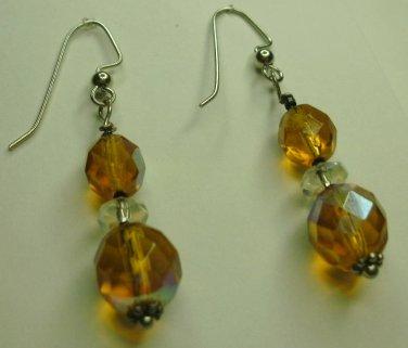 Amber Fire-polished Earrings