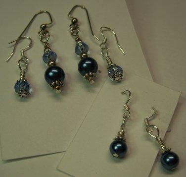 Peacock Blue 6 pc Earring Set