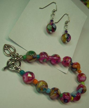 Hippy at Heart Bracelet/Earring Set