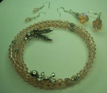 Ballerina Pink Bracelet/Earrings Set
