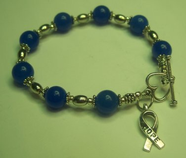 Blue Awareness Bracelet (child abuse and animal abuse prevention)