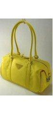 Microfiber Two Strap Handbag with End Pockets