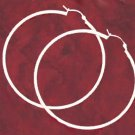 2 Inch Sterling Silver Hoop Earrings