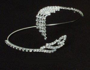 Rhinestone Bangle / Armband with Feather Design