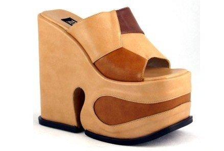 Wizard - Women's Heeled Platform MultiColor/Textured Sandals