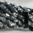 Braided Sequin Belts Patent Buckle