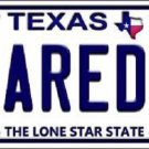 Laredo Texas Background Novelty Metal License Plate