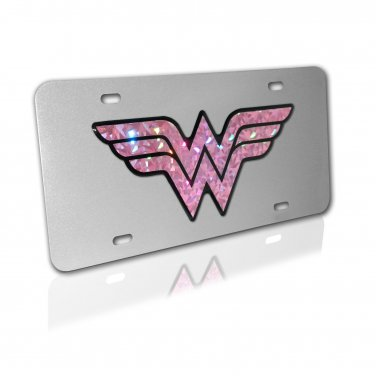 Wonder Woman on Brushed License Plate
