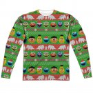 "Sesame Street ""Holiday"" Adult Reg Fit Long Sleeve T Shirt (Front/Back Print)"