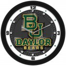Baylor Bears Carbon Fiber Textured Wall Clock