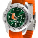 Miami Hurricanes Sport AnoChrome Colored Band  Watch