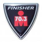 Ironman Chrome Auto Emblem (Shield - 70.3 distance)