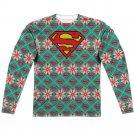 "Superman ""Holiday"" Adult Regular Fit Long Sleeve T Shirt (Front/Back Print)"
