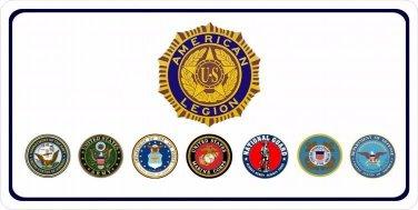American Legion Photo License Plate