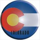 Colorado State Flag Metal Circular Sign