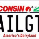 Tailgtr Wisconsin Novelty Metal License Plate