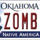 Zombie Oklahoma Novelty Metal License Plate