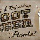 Root Beer Floats Novelty Metal License Plate