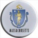 Massachusetts State Flag Metal Circular Sign