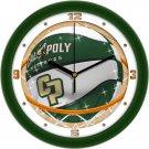 Cal Poly Mustangs Slam Dunk Wall Clock