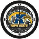 Kent State Golden Flashes Carbon Fiber Textured Wall Clock
