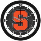 Syracuse Orange Carbon Fiber Textured Wall Clock