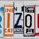 Arizona License Plate Art Brushed Aluminum Metal Novelty License Plate