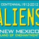 Aliens New Mexico Teal Novelty Metal License Plate