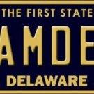 Camden Delaware Novelty Metal License Plate