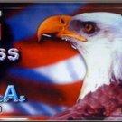 Eagle | God Bless USA Vanity Metal Novelty License Plate