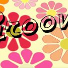 Groovy On Flowers Photo License Plate