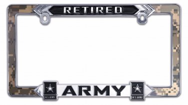 Army (Retired) License Plate Frame