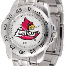 Louisville Cardinals Mens' Sport Steel Watch