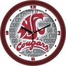 Washington State Cougars Dimensional Wall Clock