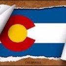 Colorado Flag Scroll Novelty Metal License Plate