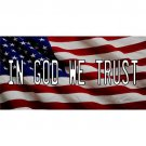In God We Trust American Flag Photo License Plate