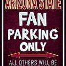 Arizona State Metal Novelty Parking Sign