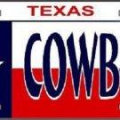 Cowboy Texas Metal Novelty License Plate