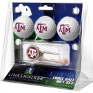 Texas A&M Aggies Cap Tool 3 Ball Gift Pack