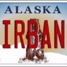 Fairbanks Alaska State Background Novelty Metal License Plate