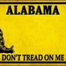 Alabama Dont Tread On Me Novelty Metal License Plate