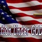 U.S. Flag One Nation Under God Large Cross Photo License Plate