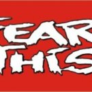 Fear This on Red Aluminum License Plate