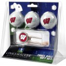 Wisconsin Badgers Cap Tool 3 Ball Gift Pack