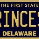 Princess Delaware Novelty Metal License Plate