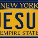 Jesus New York Background Novelty Metal License Plate