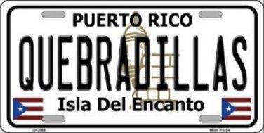 Quebradillas Puerto Rico Metal Novelty License Plate