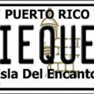 Vieques Puerto Rico Metal Novelty License Plate